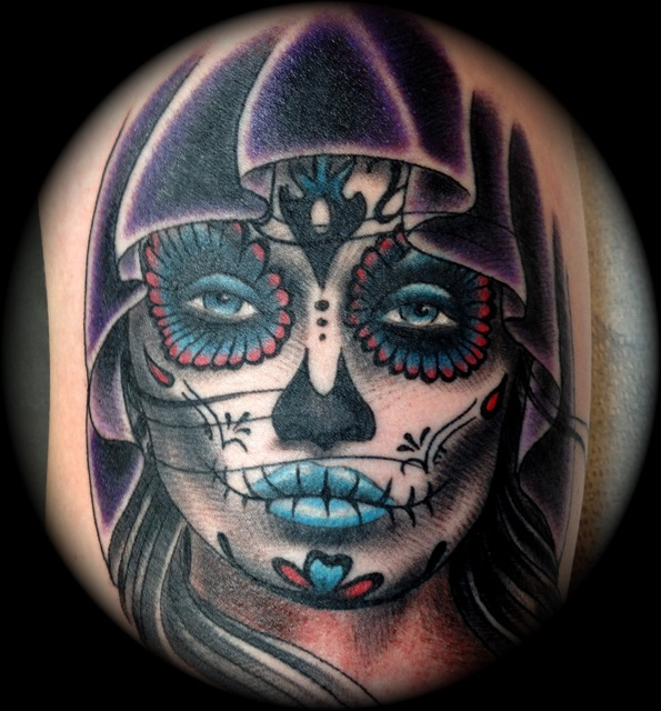 Out Standing Day Of The Dead Girl Tattoo Design For Tattoo Fans