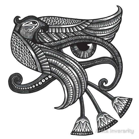 Out Standing Egyptian Eye Of Horus Tattoo Design For Girls