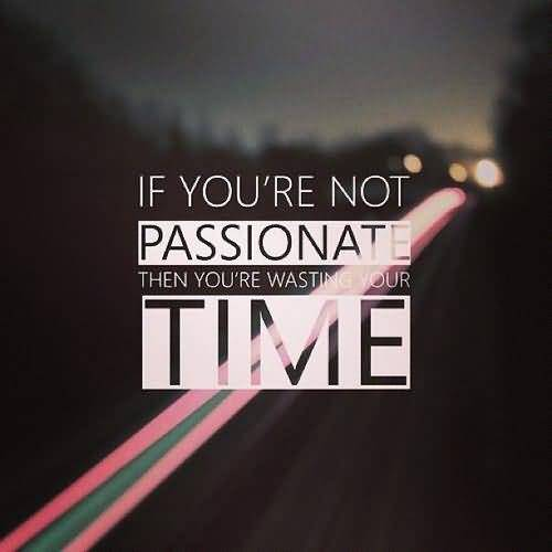 Passion Sayings If You're Not Passionate Then You're Wasting Your Time