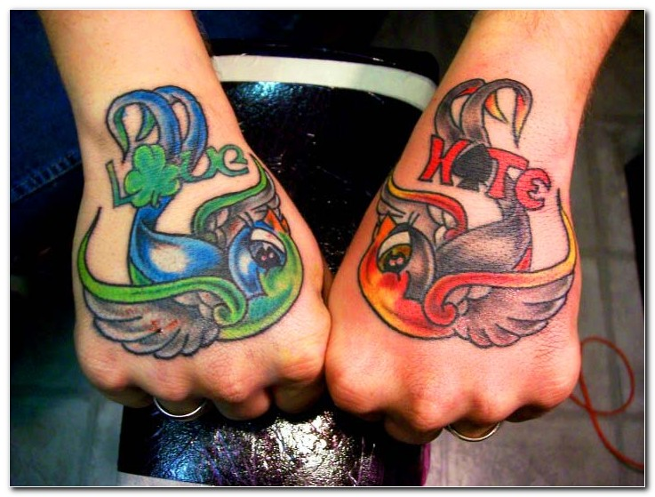Perfect Birds Hand Tattoo Designs For Boys