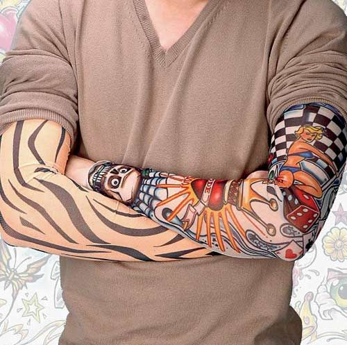 Perfect Funky Tattoo On Sleeve For Boys