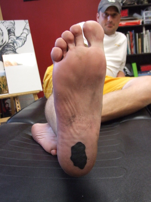Perfect Tattoo On Back Of Heel For Boys