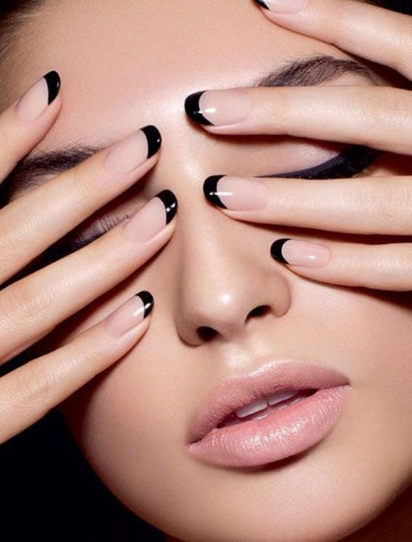 Phenomenal Black Nail Art Design Only On Tip