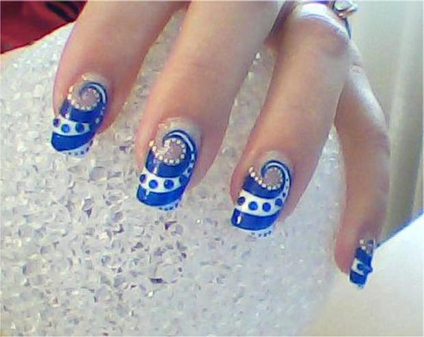 Phenomenal Blue Nail Art With Fabulous Design
