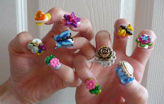 Phenomenal Design Of 3D Nail Art