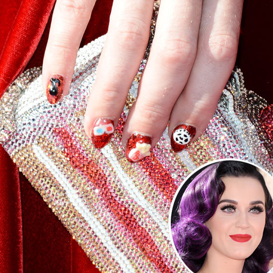 Phenomenal Katy Perry's 3D Nail Art