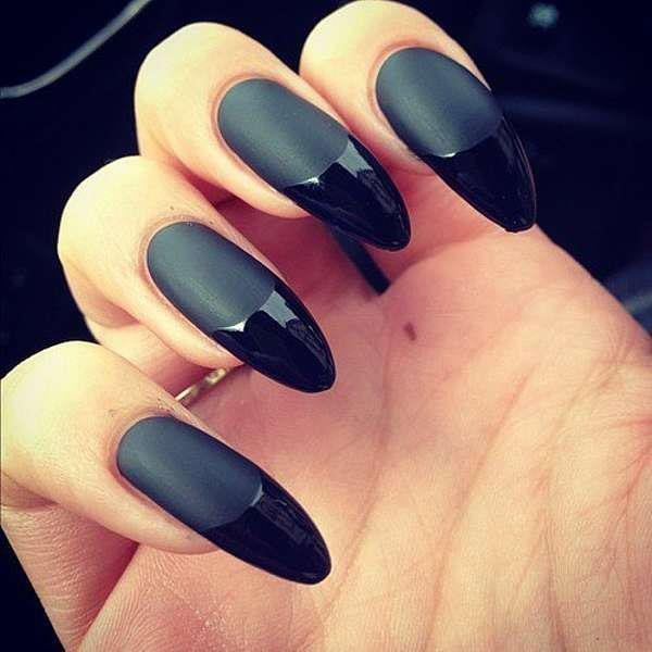 Phenomenal Stiletto Nails With Dark Black Tip