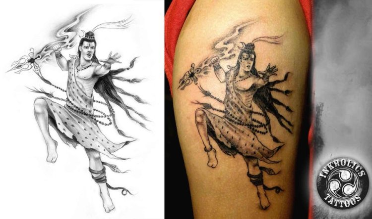 Popular Hindu God Shiva Tattoo Design For Boys