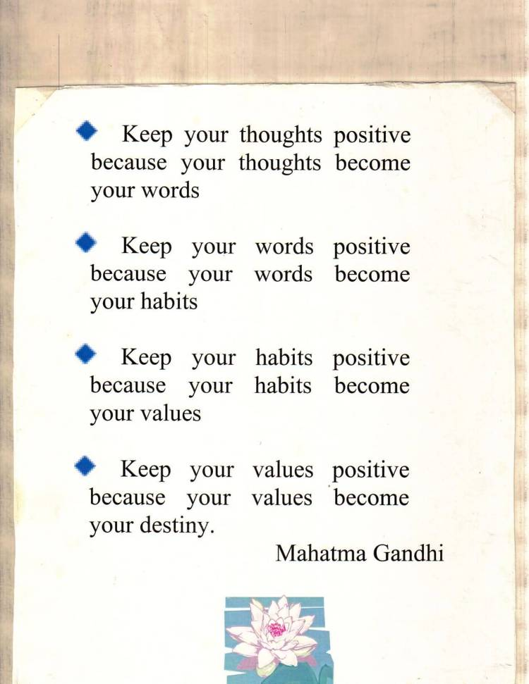 Positive Quotes keep your thoughts positive because your thoughts become your words