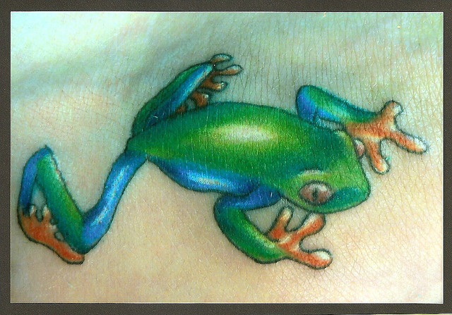 Realistic Frog Tattoo For Boys