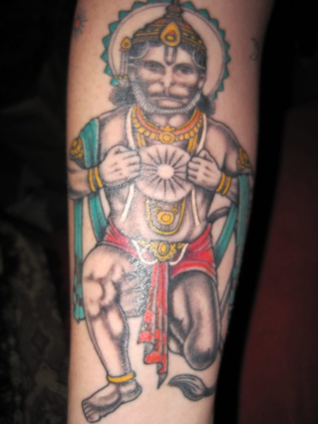 Realistic Lord Hanuman Tattoo Design For Boys