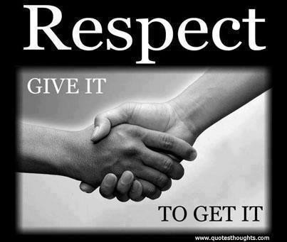 Respect Sayings respect give it to get it