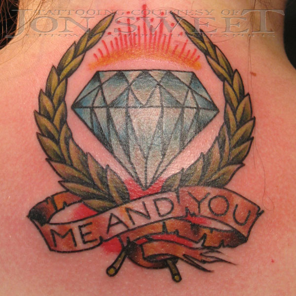 Sensation Diamond Tattoo On Back For Girls