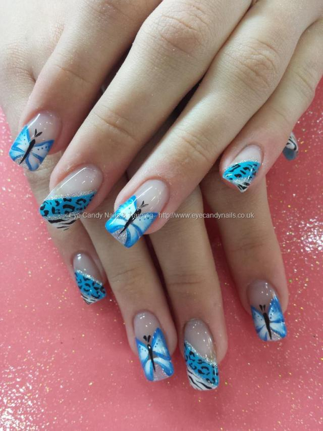 Sensational Butterfly Nail Design On Tip