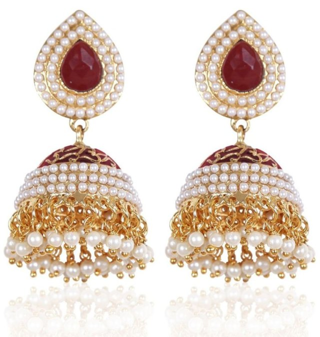 Shining Diva Stylish Traditional Jhumki Earrings For Women & Girls 001