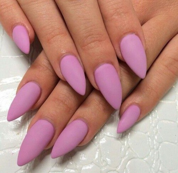 Simple Pink Plain Nail Paint Accent Nail Art