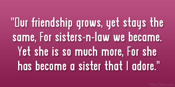 Sister In Law Quotes And Sayings 02