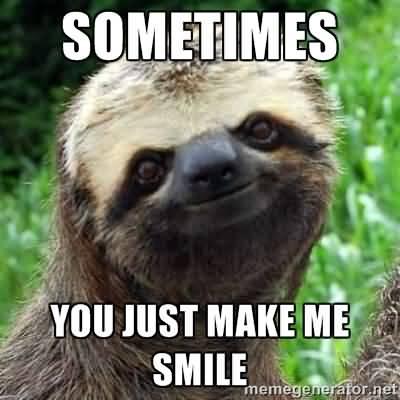 Sometimes You Just Make Me Smile