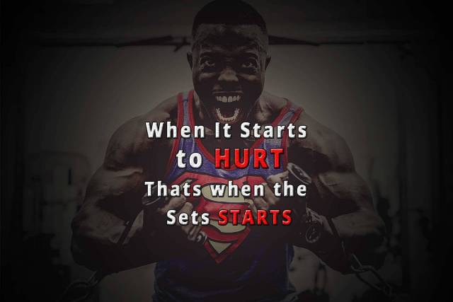 Strength Quotes When It Starts To Hurt That When The Sets Starts