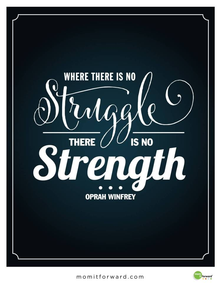 Strength Quotes Where There Is No Struggle There Is No Strength .