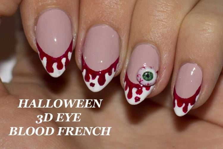 Stunning Halloween 3D Eye 3D Nail Art