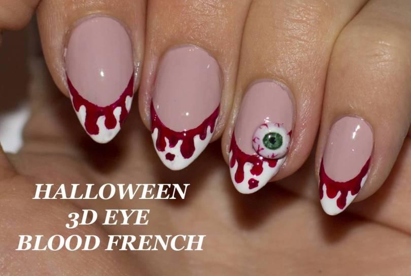 Stunning Halloween 3D Eye 3D Nail Art