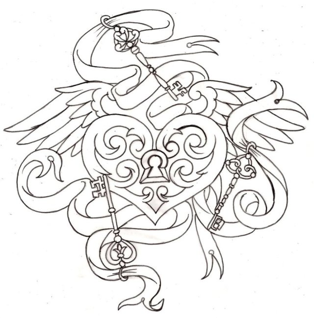 Stunning Heart Tattoo Design For Boys