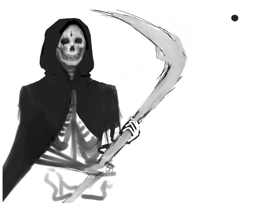 Superb Death Grim Reaper Tattoo Design For Boys