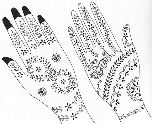 Sweet Henna Tattoo Designs For Girls