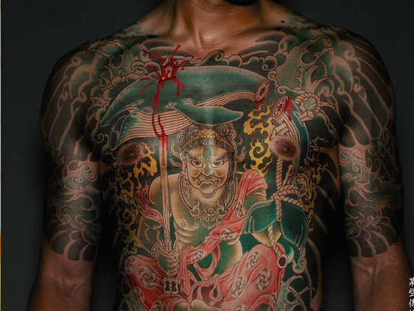 Sweet Yakuza Full Body Tattoo Design For Boys