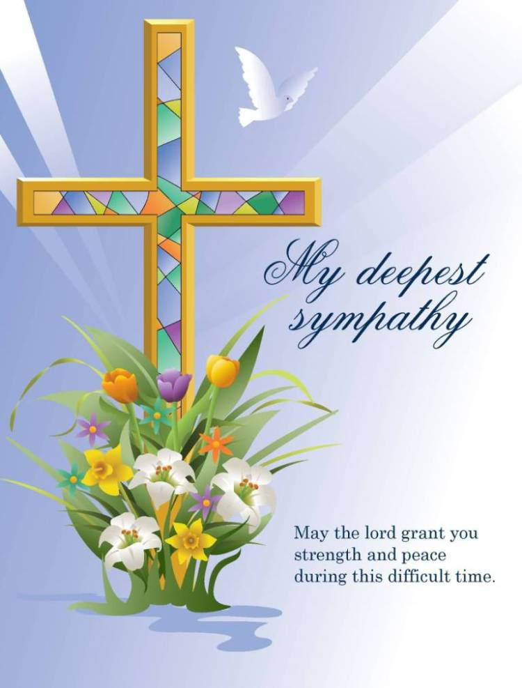 Sympathy Quotes my deepest sympathy may the lord grant you strength and peace during this difficult time.