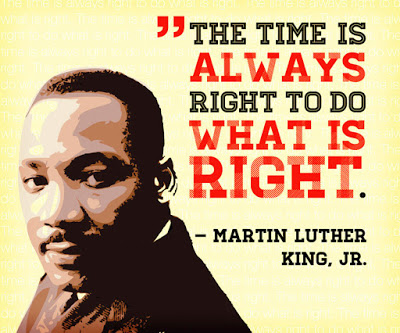 The Time Is Always Right Martin Luther King Day