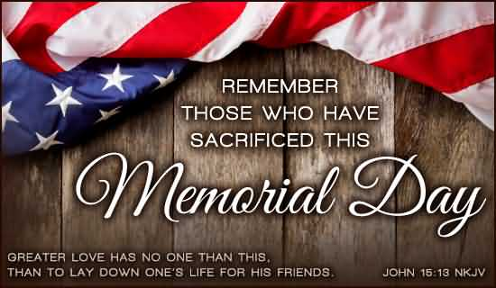 To Honor Our Fallen Soldiers Memorial Day Image