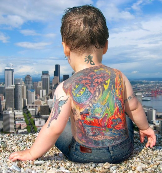 Traditional Baby Full Body Tattoo Trend For Boys