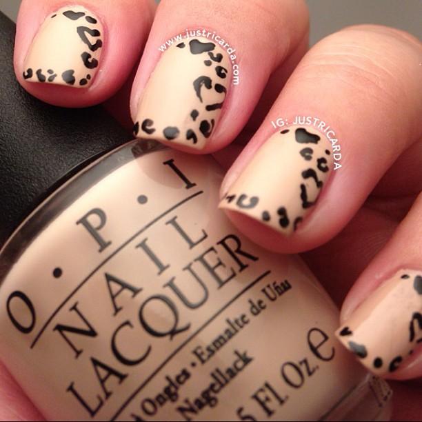 Tremendous Black And Beige Nail Art With Cutest Heart Design