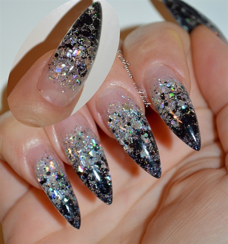 Tremendous Stiletto Nails With Crystal Design