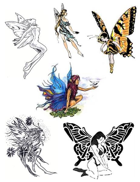 Trendy Fairy Tattoo Pack For Girls