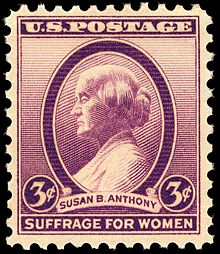 U.S.Postage Susan B. Anthony Suffrage For Women