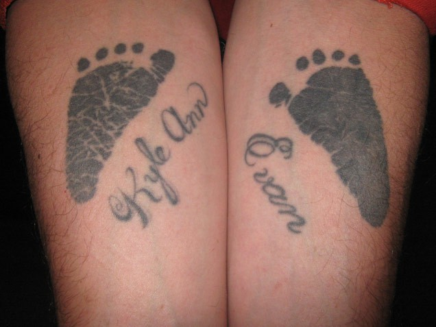 Ultimate Footprints Tattoo Design For Boys