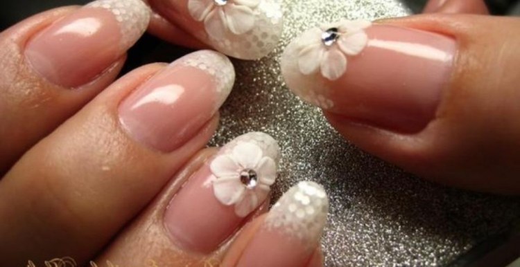 Ultimate Pink Color With Diamond In It 3D Nail Art