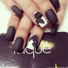 Unique Black Color Paint 3D Rose Flower Nail Art