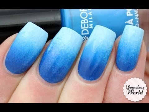 Unique Blue Nails With Lighting Shade