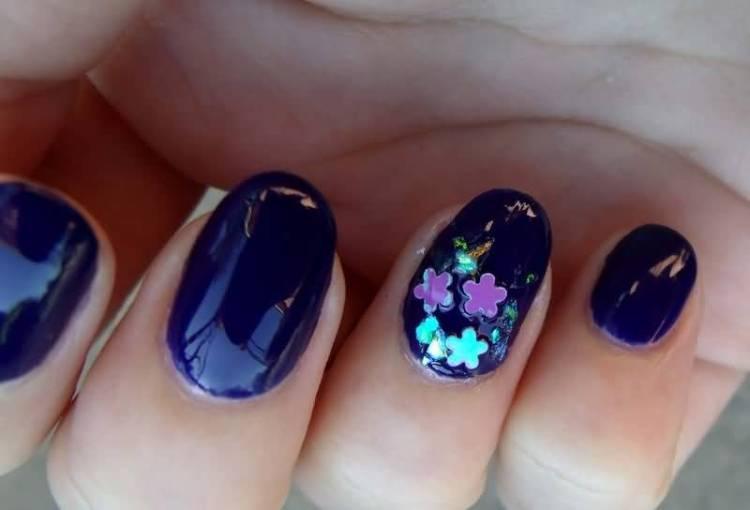 Unique Purple Nail Paint Accent Nail Art