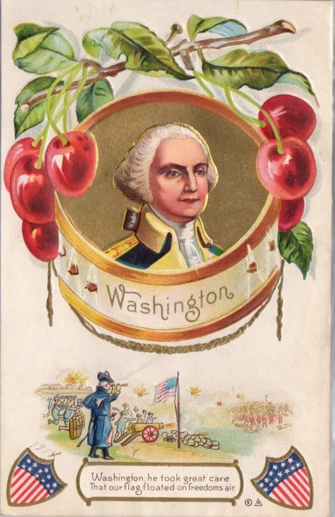 Washington Birthday Wishes Greetings Card Image
