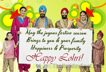 Wishing You & Your Family A Very Happy Lohri Wishes Message Image