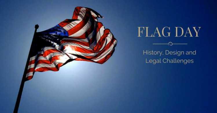 Wonderful America Waving Flag Day Wishes Wallpaper