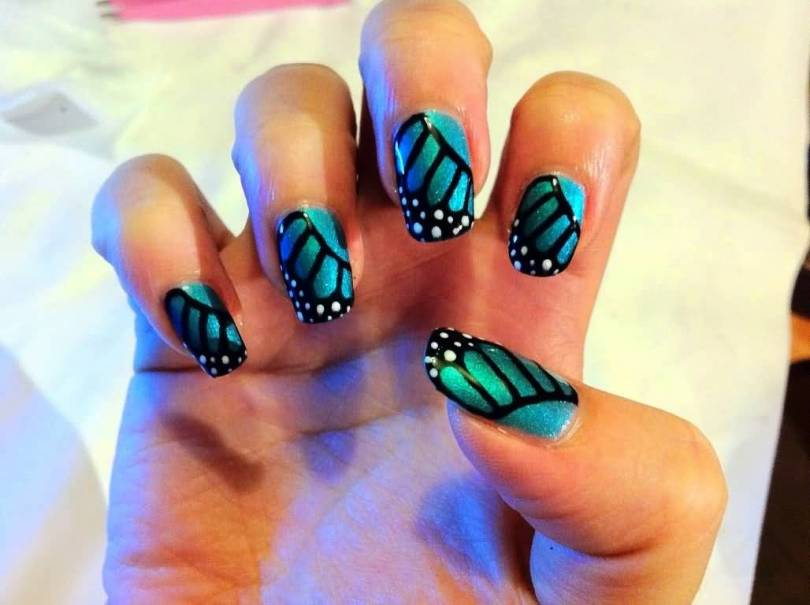 Wonderful Butterfly Nail With Fabulous Color