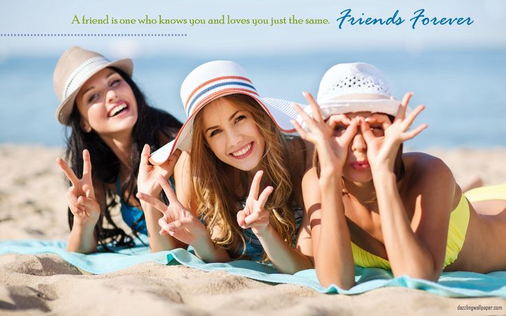 Wonderful Friends Forever Wishes Wallpaper