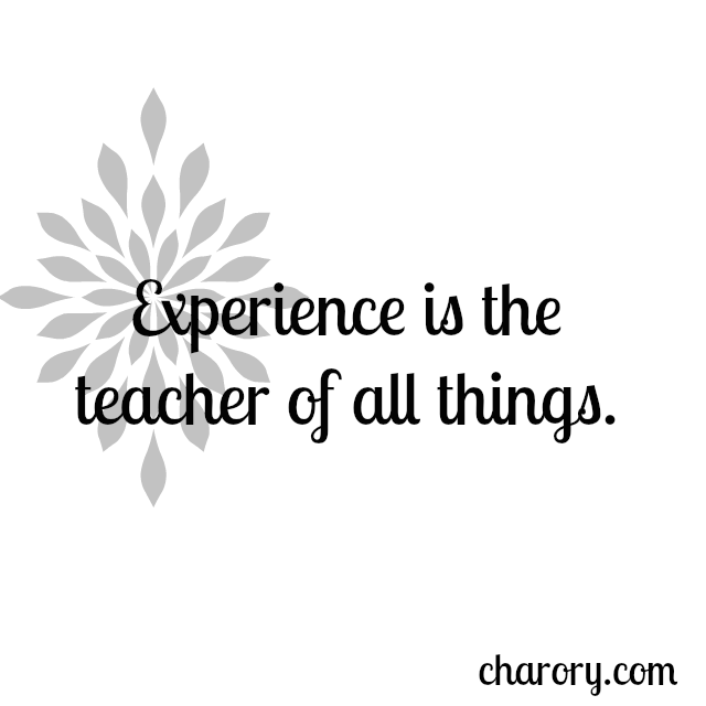 experience sayings experience is the teacher of all things