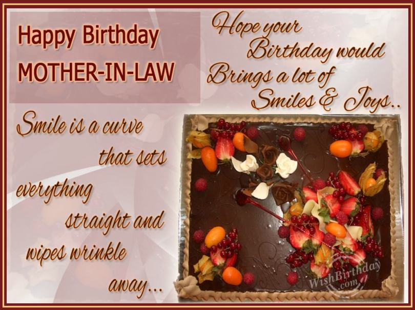 happy birthday mother in law..